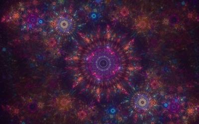 Purple shades of fractal wallpaper