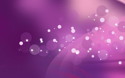 Purple sparkles, circles and stars wallpaper