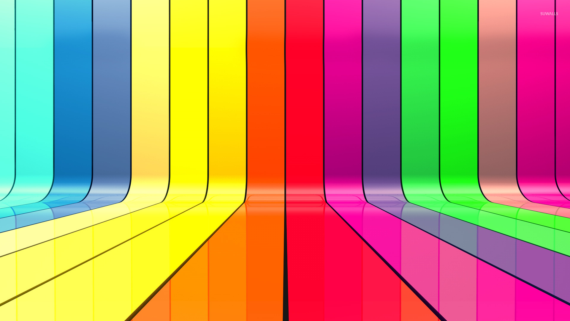 Rainbow bars wallpaper Abstract wallpapers 17155