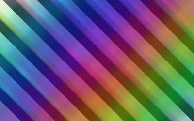 Rainbow colored diagonal stripe wallpaper