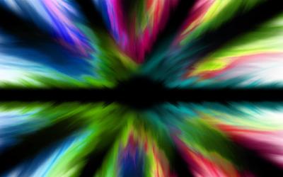 Rainbow flares wallpaper