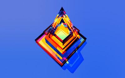 Rainbow pyramid wallpaper