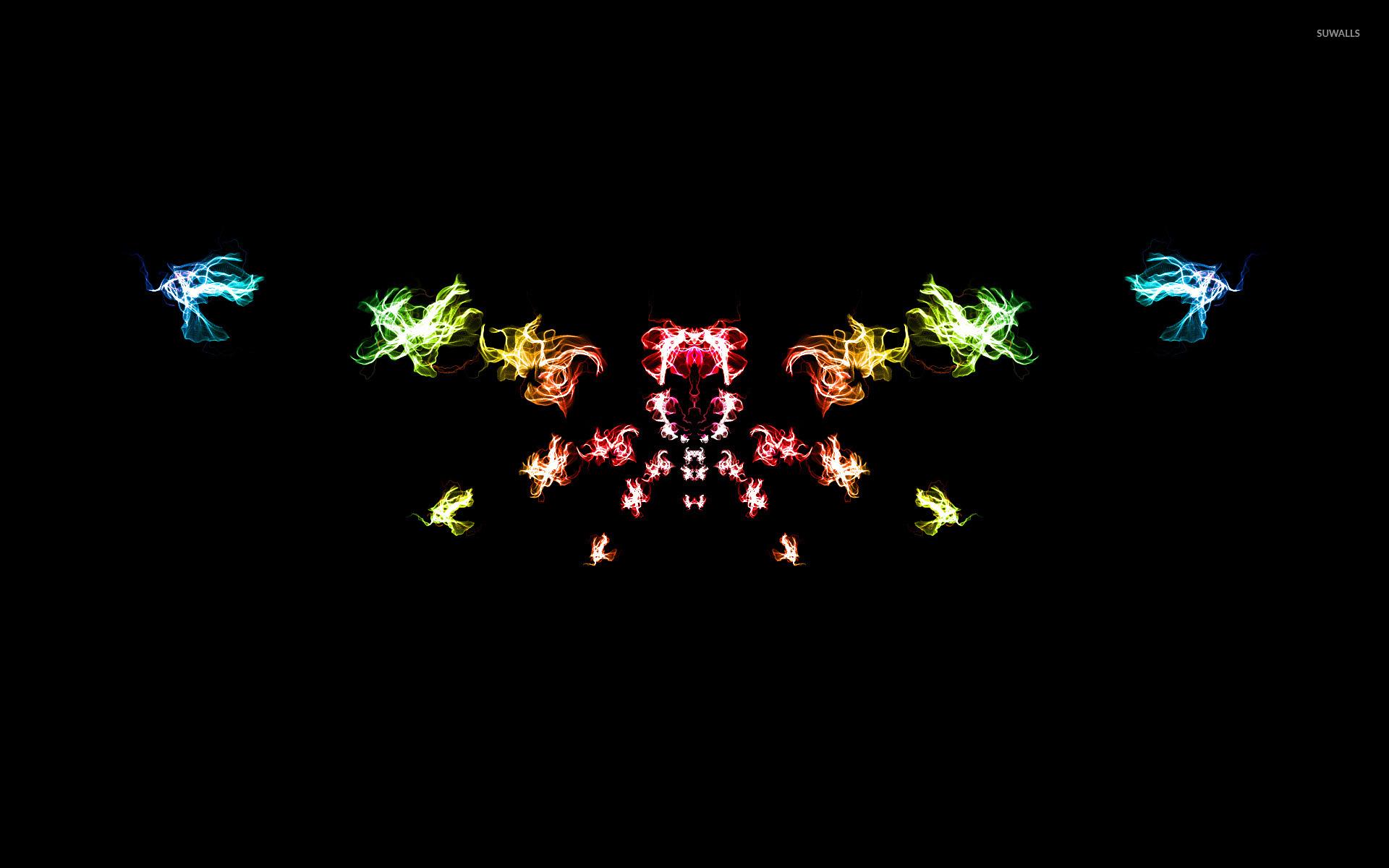 rainbow smoke wallpaper - abstract wallpapers - #31600
