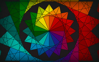 Rainbow star wallpaper 1920x1200 jpg