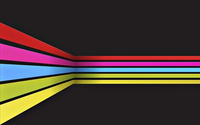 Rainbow stripes wallpaper