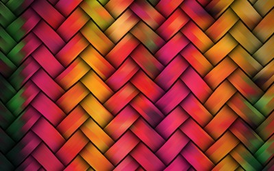 Rattan braiding wallpaper