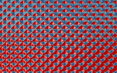 Red and blue hypnotic shapes wallpaper