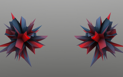 Red and blue thorns wallpaper