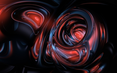 Red and dark blue shapes glowing Wallpaper