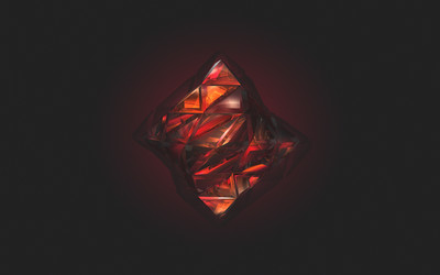 Red facets wallpaper