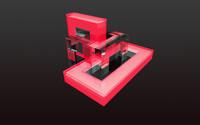 Red facets [2] wallpaper 2560x1440 jpg