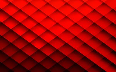 Red rhombus pattern wallpaper