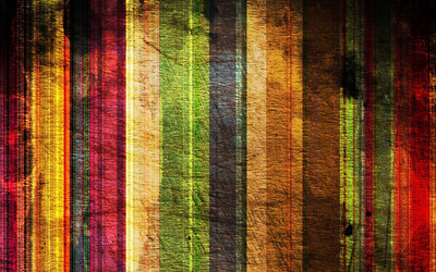 Scratched colorful wood stripes wallpaper