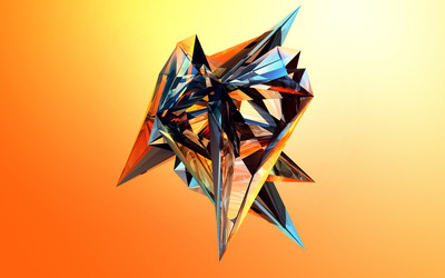 Sharp colorful facets wallpaper