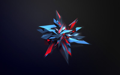 Sharp star facets wallpaper