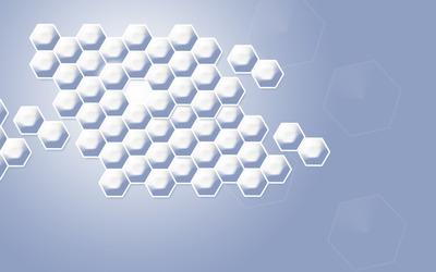 Silver honeycomb wallpaper