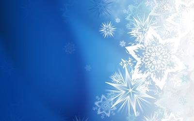 Snowflakes & Stars wallpaper