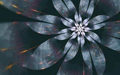 Sparkly flower wallpaper