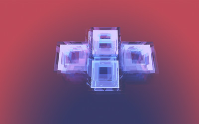 Square facets wallpaper