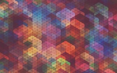 Square pattern wallpaper