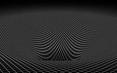 Square pattern falling into the abyss wallpaper