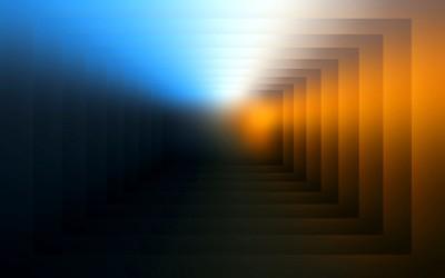 Square tunnel wallpaper