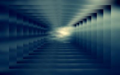 Square tunnel [3] wallpaper
