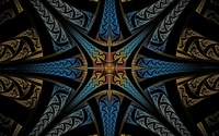 Star like fractal design wallpaper 1920x1200 jpg