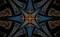 Star like fractal design wallpaper 1920x1200 jpg