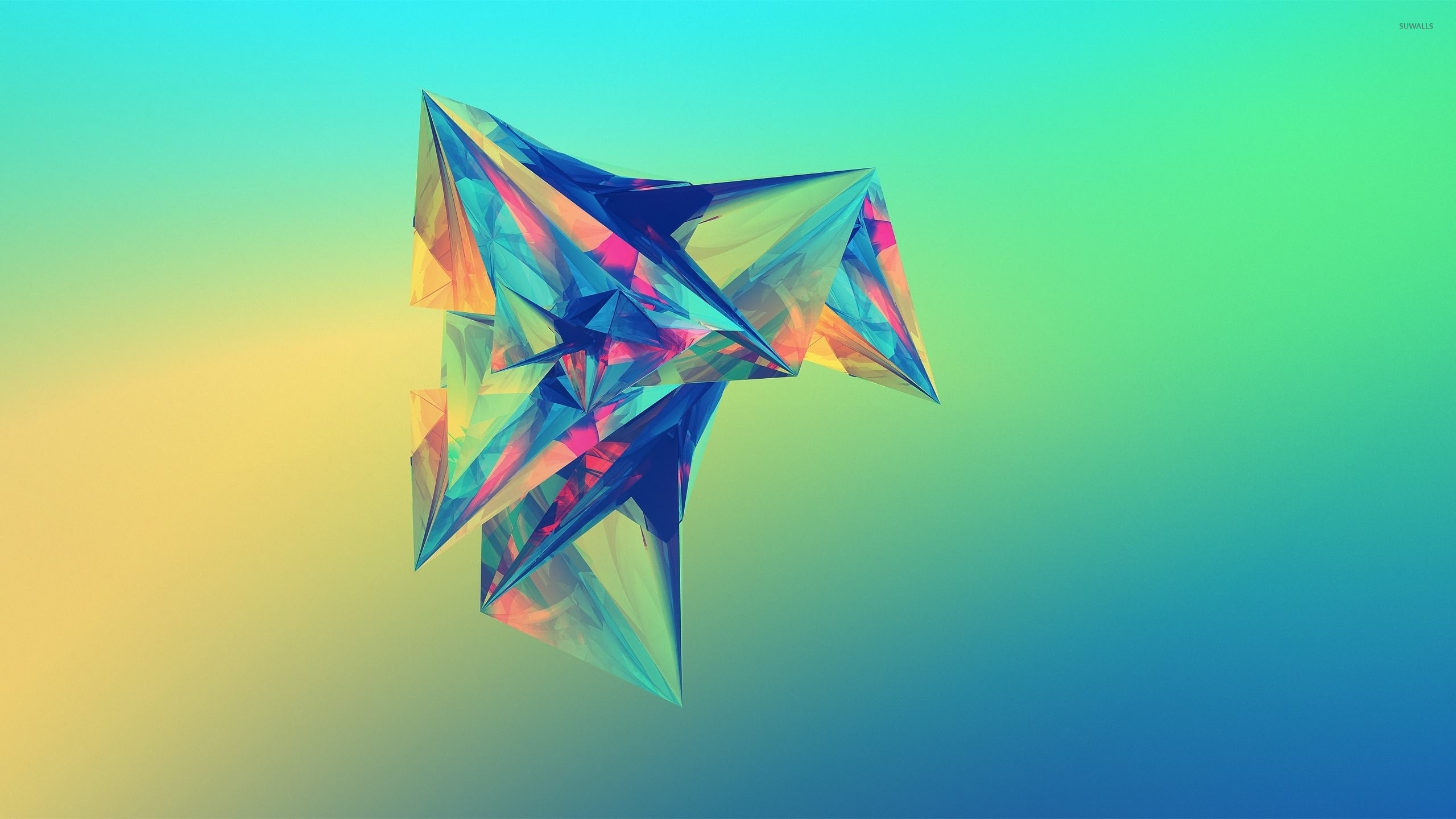 Sun Light Upon The Colorful Diamond Wallpaper Abstract