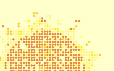 Sun shaped from dots wallpaper