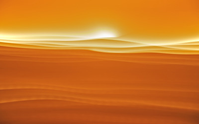 Sunset in the dessert wallpaper