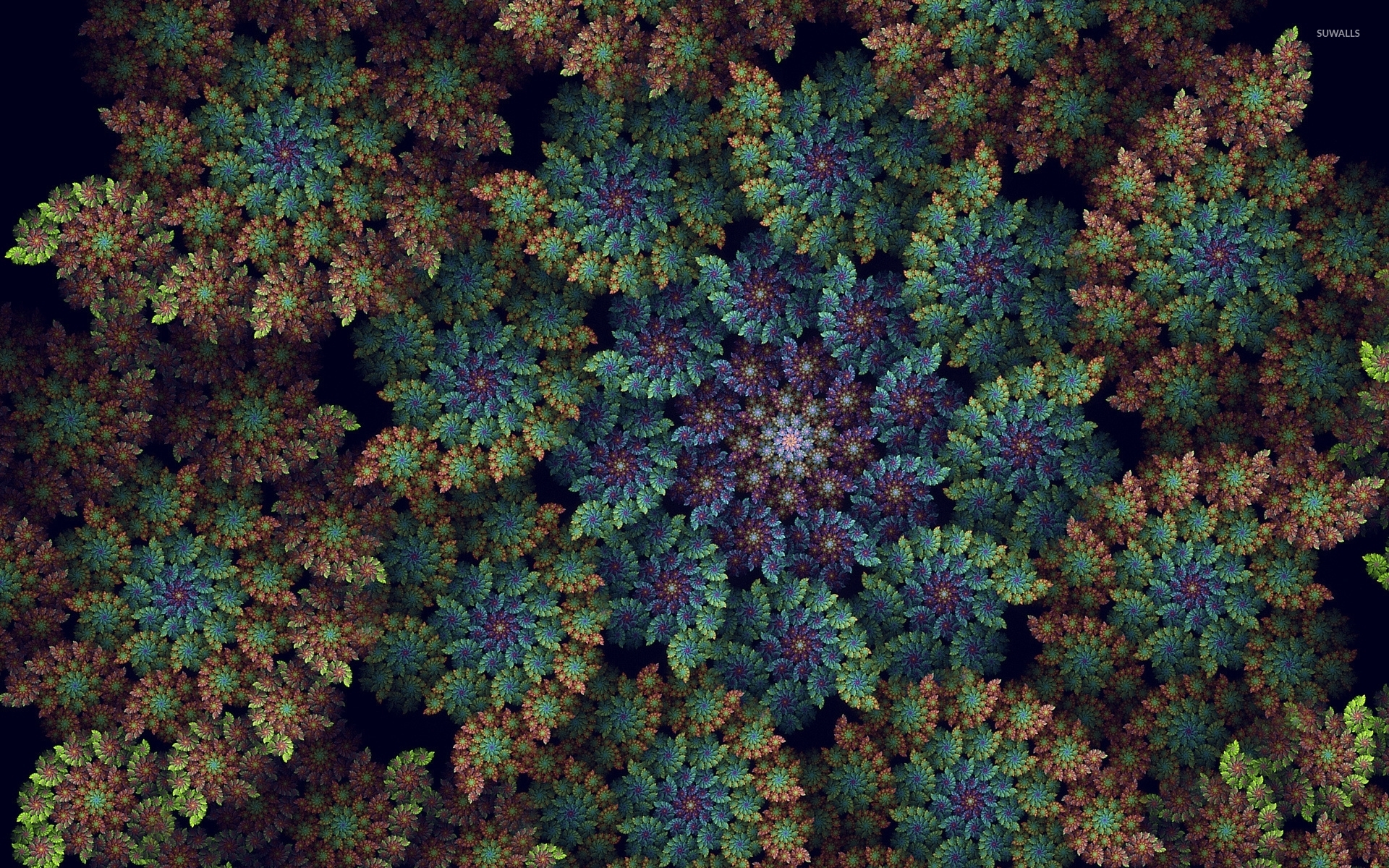 top view of an abstract spring forest wallpaper - abstract