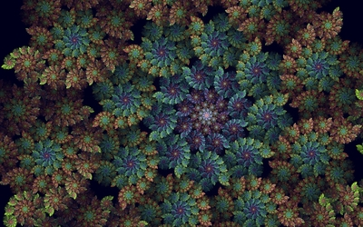 Top view of an abstract spring forest wallpaper