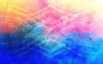 Translucent waves on colorful blur wallpaper