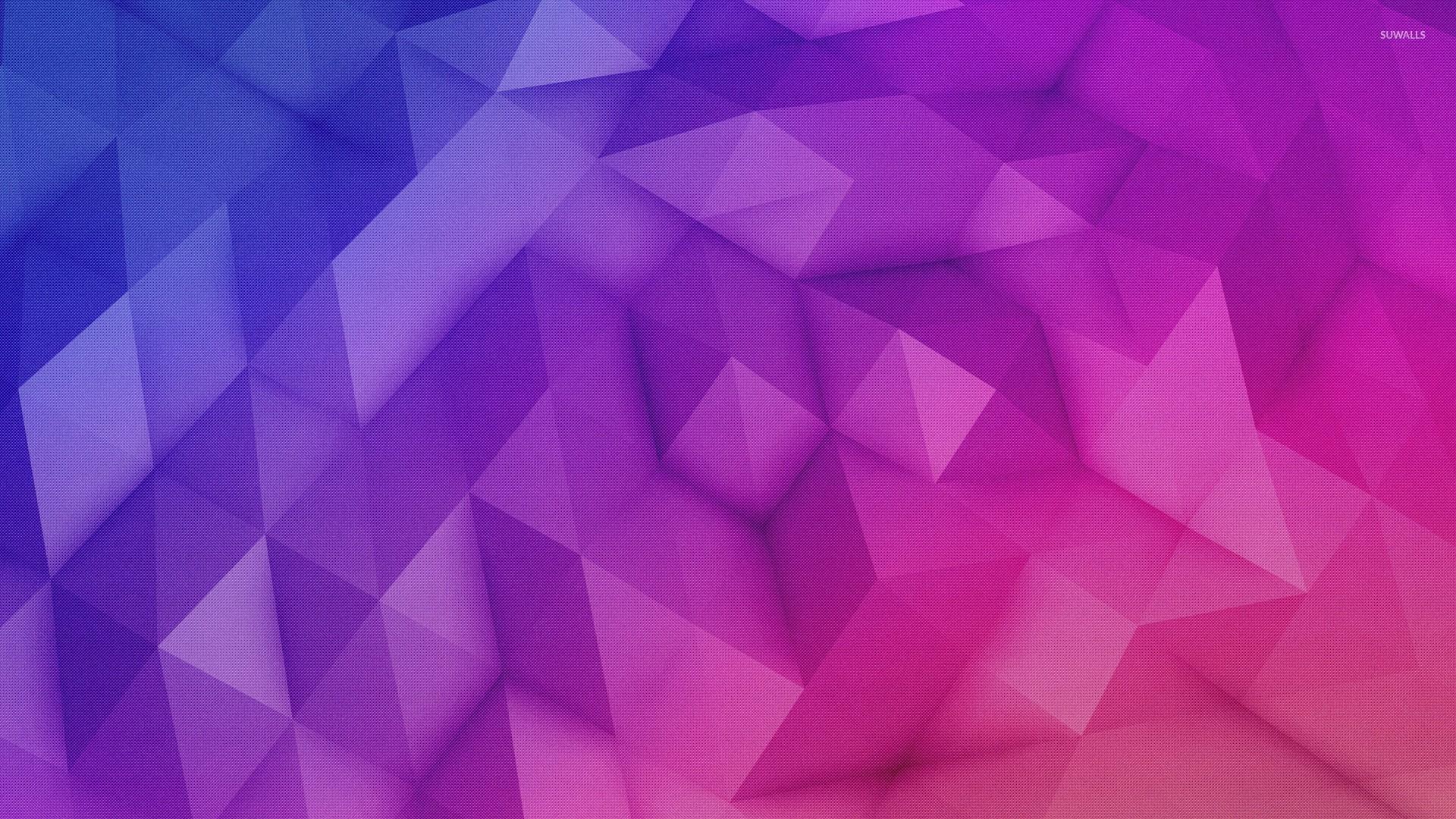 orange and pink triangles wallpaper digital art wallpapers 53680