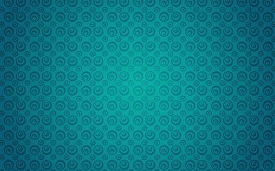 Turquoise circle pattern wallpaper