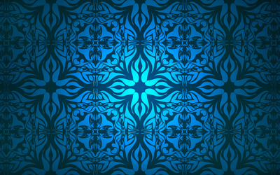 Vintage blue pattern wallpaper