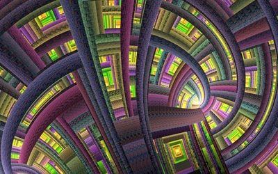 Vivid colorful fractal wallpaper