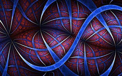 Wavy fractal lines wallpaper