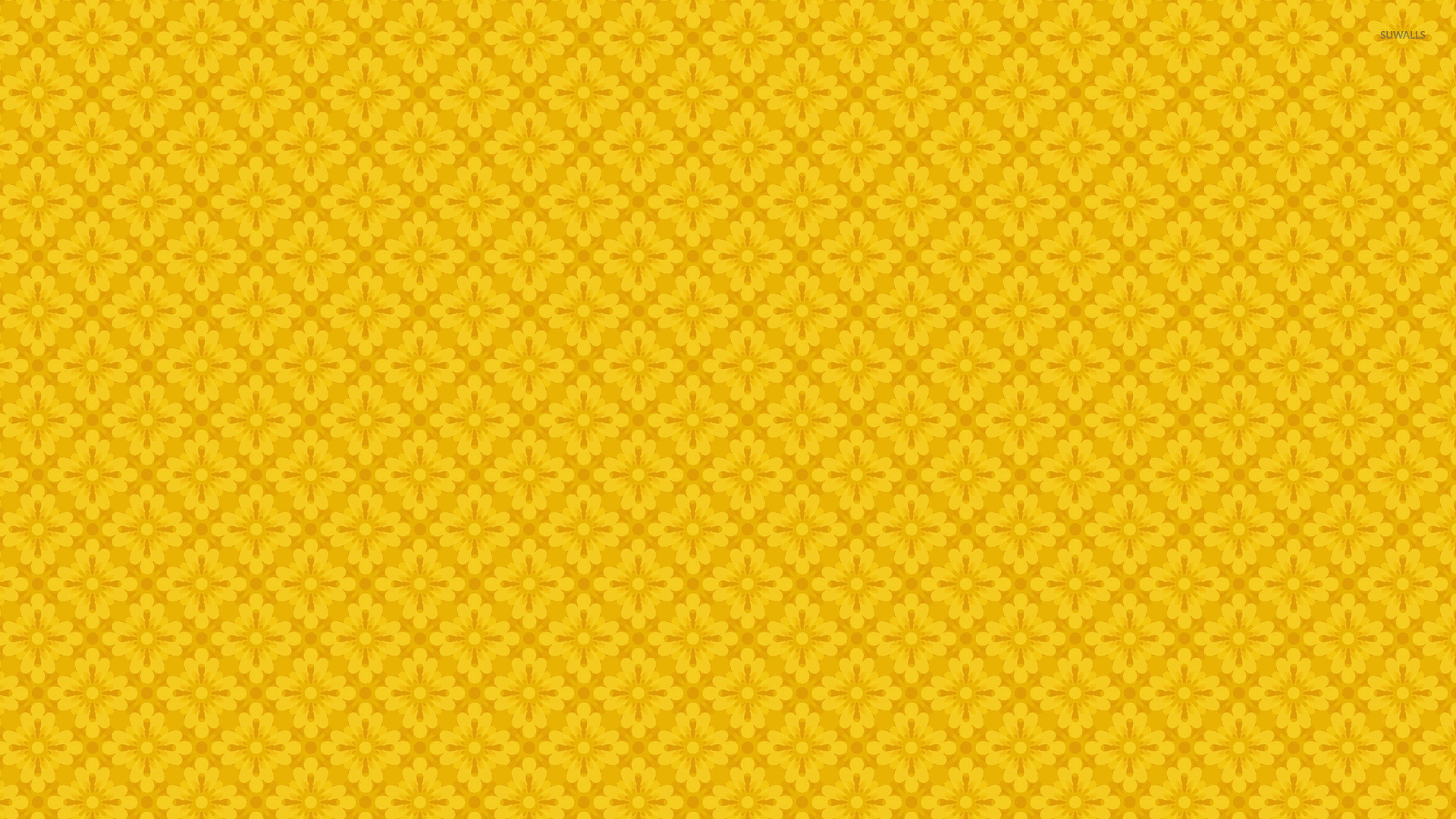 yellow floral pattern - photo #33