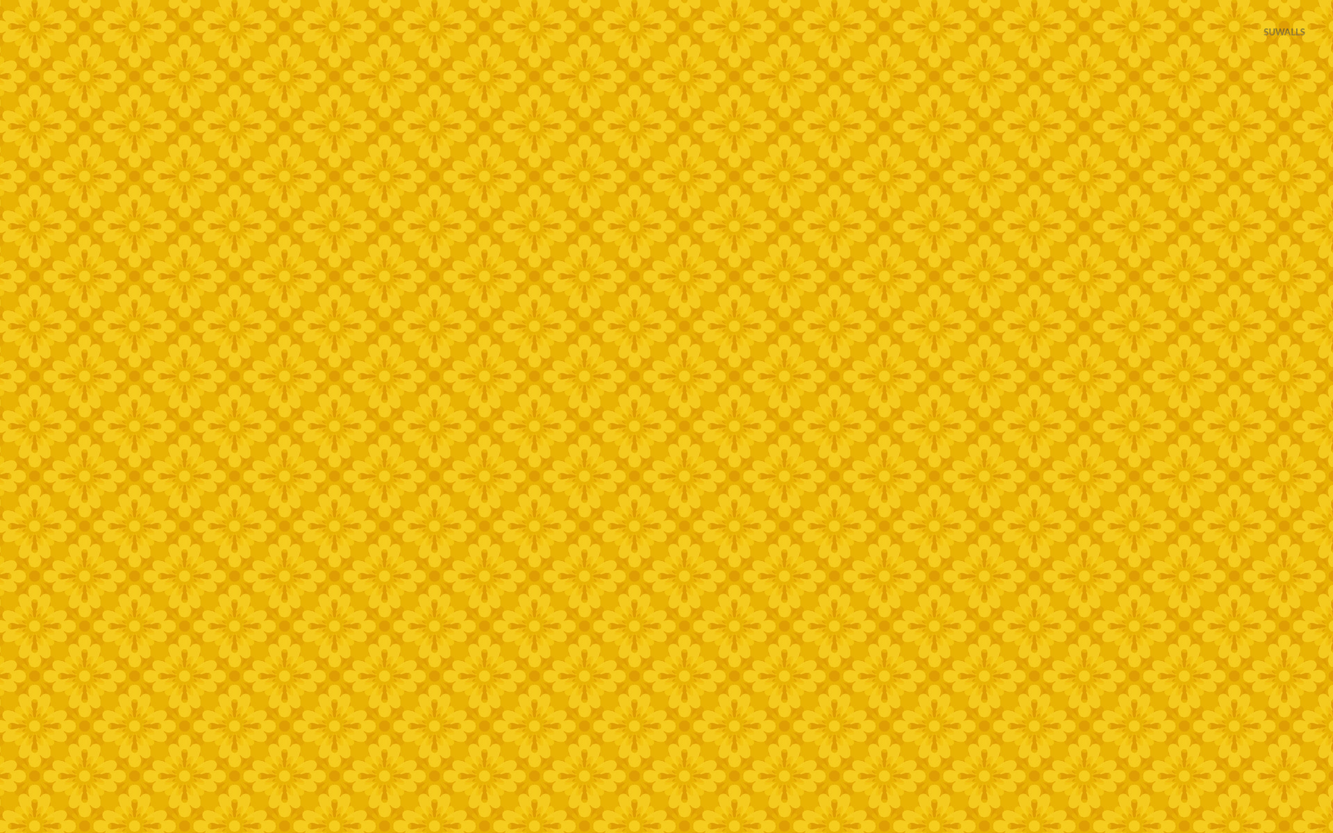 yellow floral pattern - photo #25