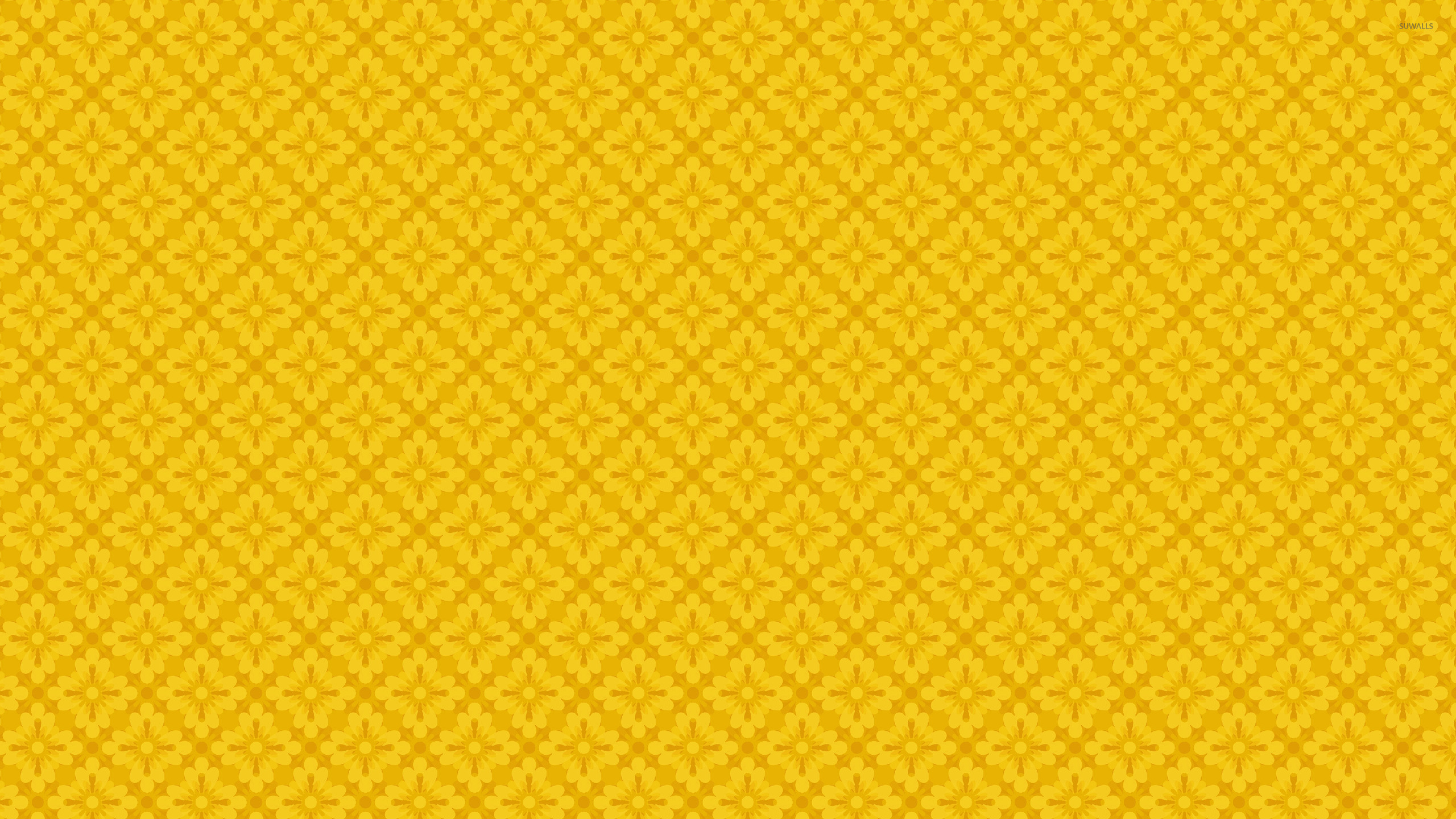 yellow floral pattern - photo #24