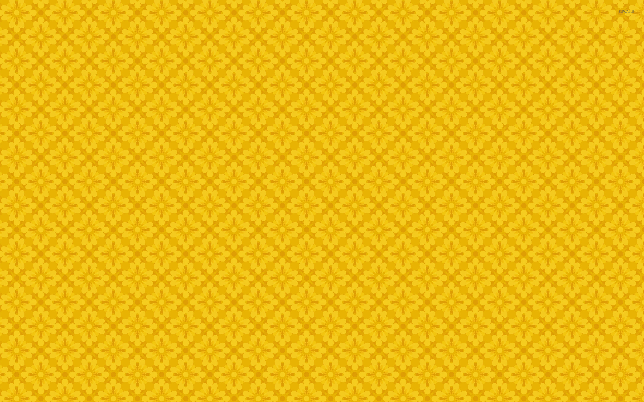 yellow floral pattern - photo #18