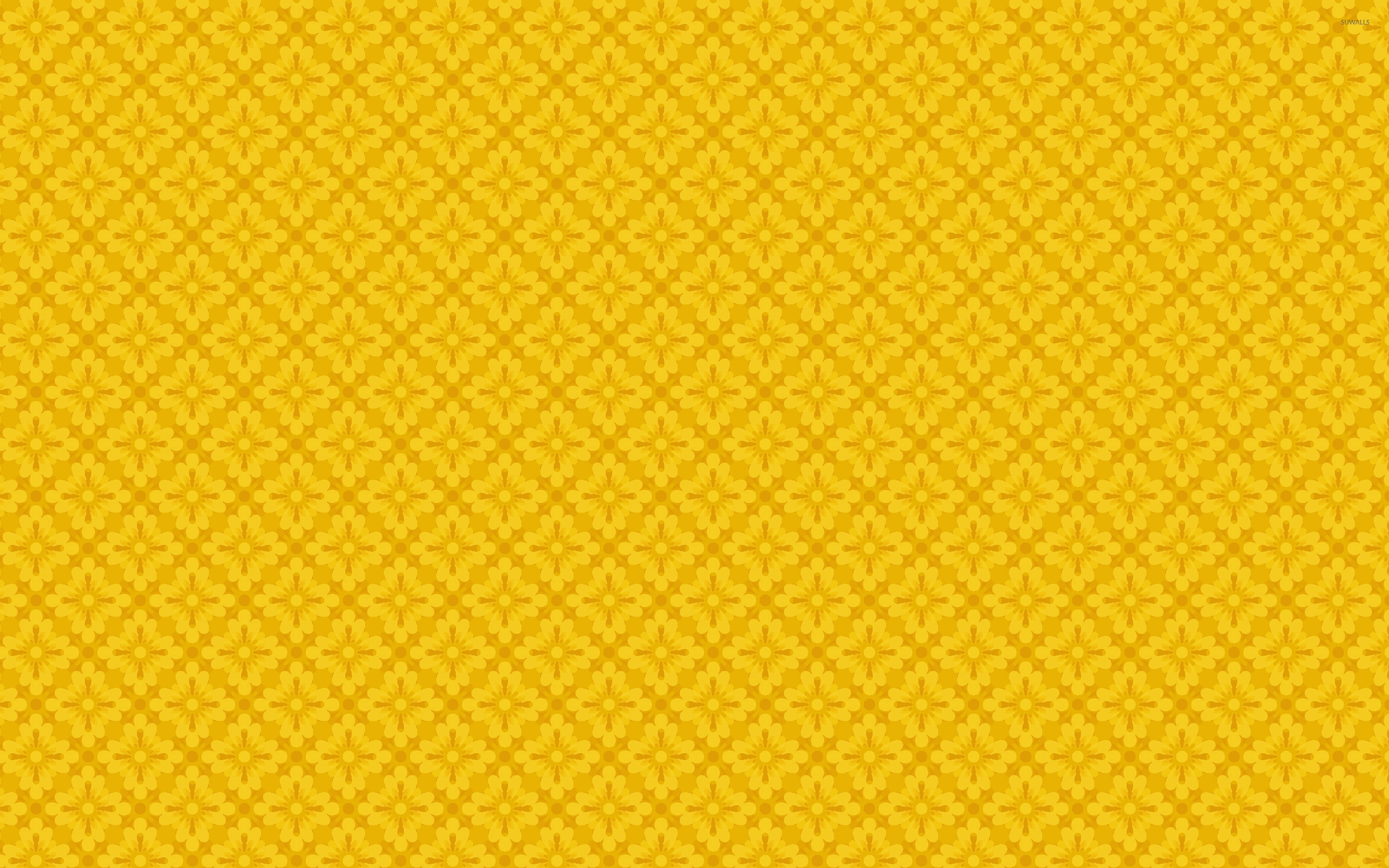 yellow floral pattern - photo #20