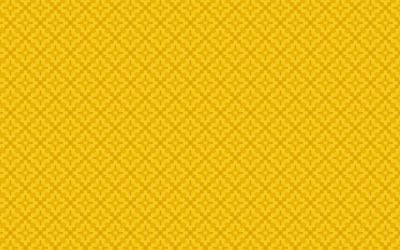 Yellow floral pattern wallpaper