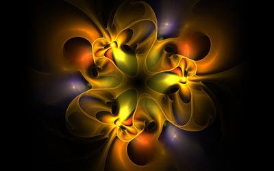 Yellow translucent waves wallpaper