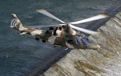 AgustaWestland AW109 Hirundo above the dam Wallpaper