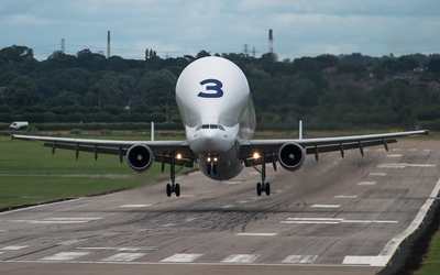 Airbus Beluga taking off wallpaper