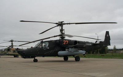 Black Kamov Ka-50 wallpaper